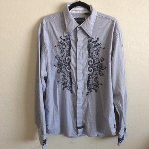 English Laundry Embroidered Men's Shirt XXL